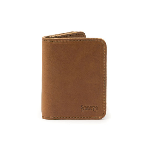 Leather Business Card Holder Wallet - Tobacco