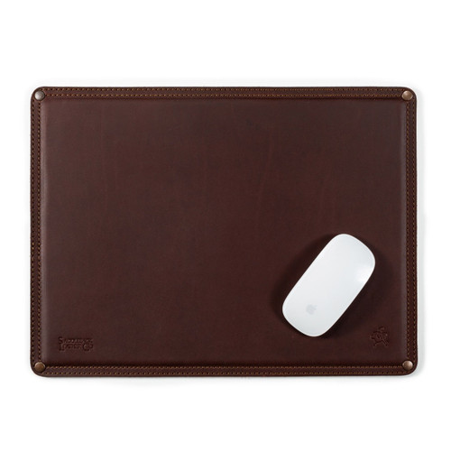 Large Leather Mouse Pad - Chestnut