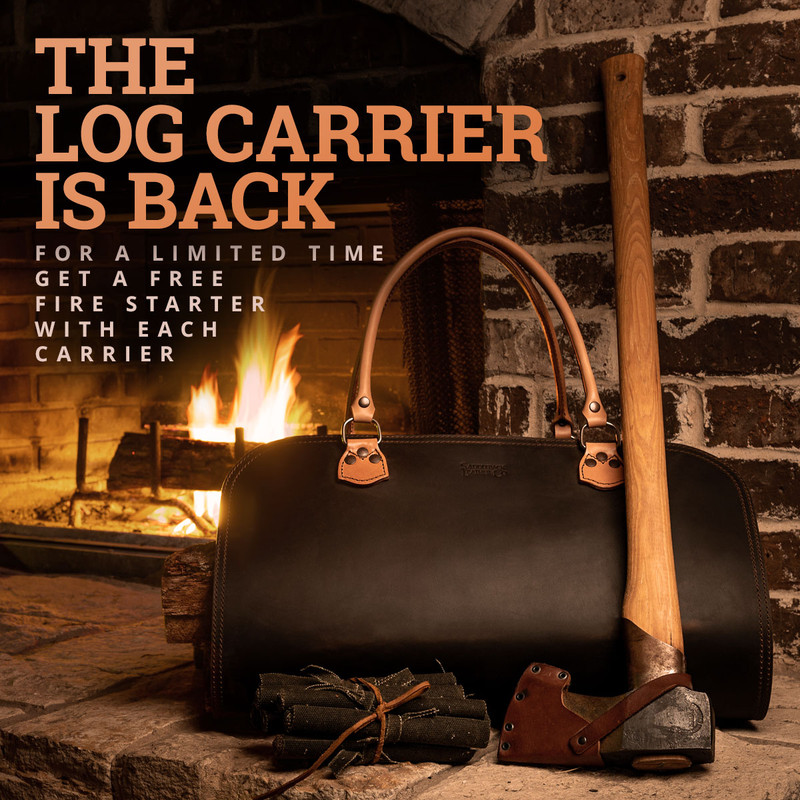 leather-log-carrier-with-free-fire-starter-kit