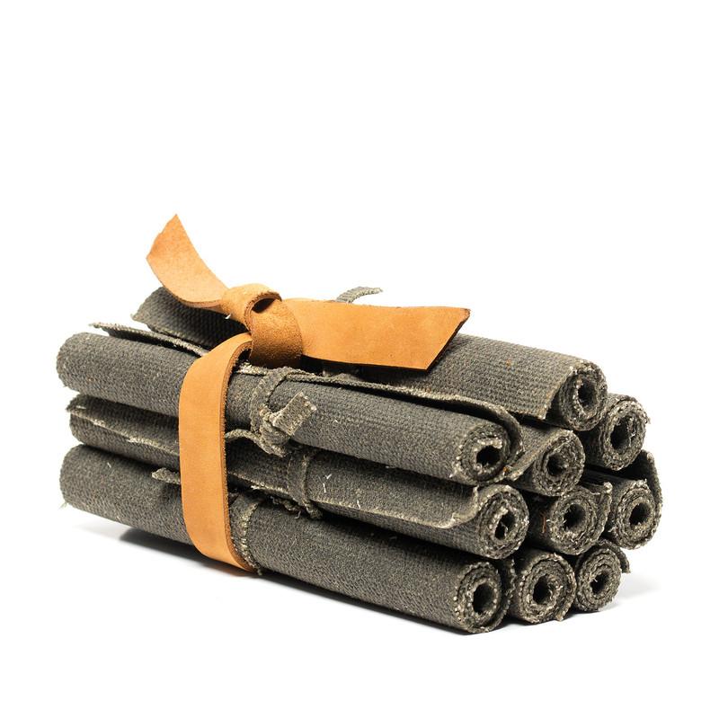 Waxed Canvas Fire Starter Rolls
