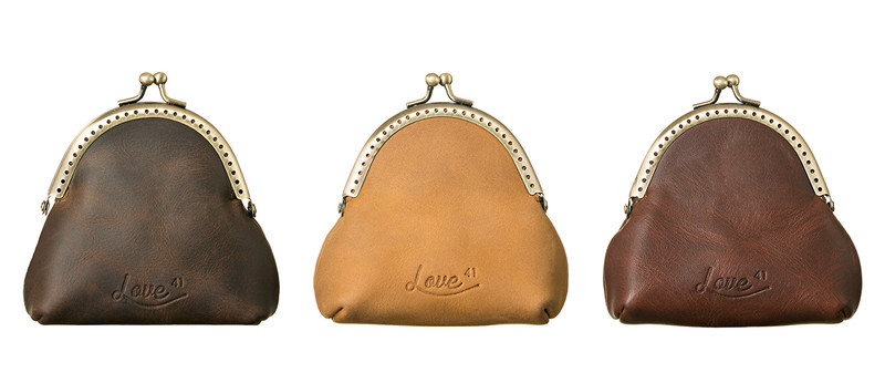 This is the leather coin purse showing all colors