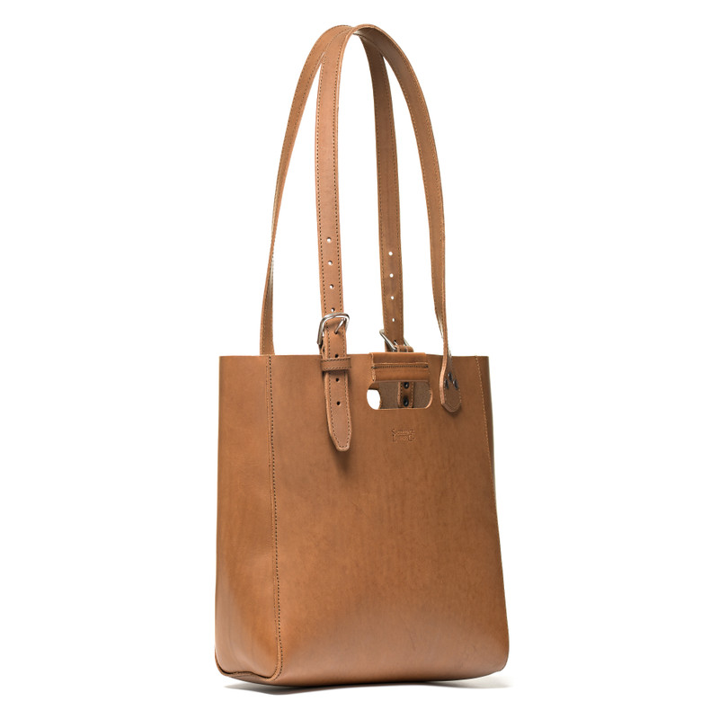 The Leather Tote - Veg Tan Leather - Light