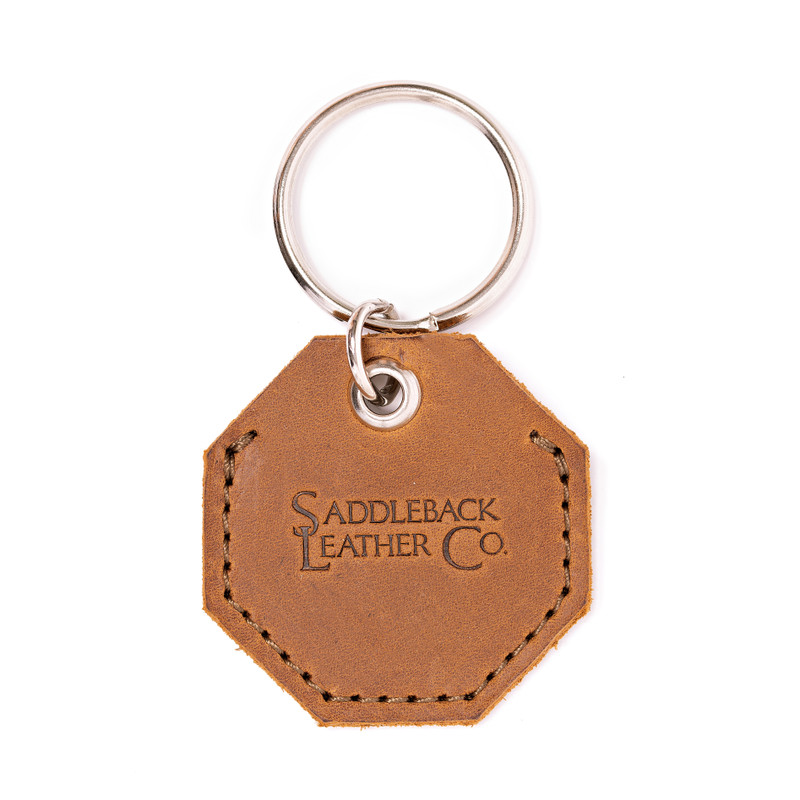 Leather AirTag Keychain Case - The Ring
