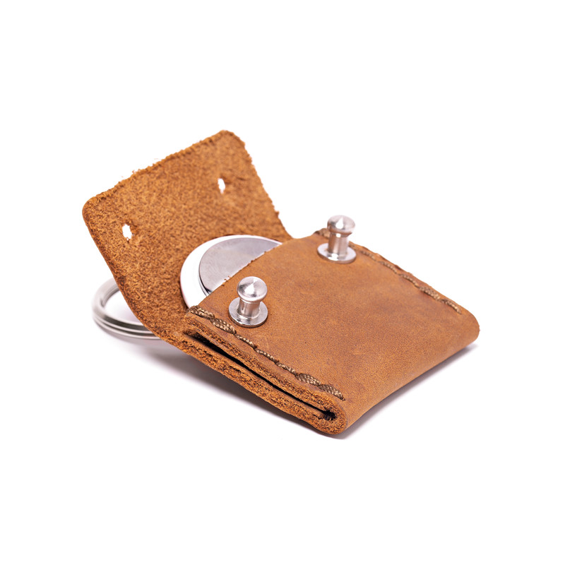 Leather AirTag Keychain Case - The Pouch