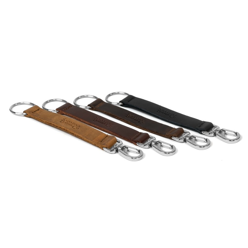 Long Leather Keychain