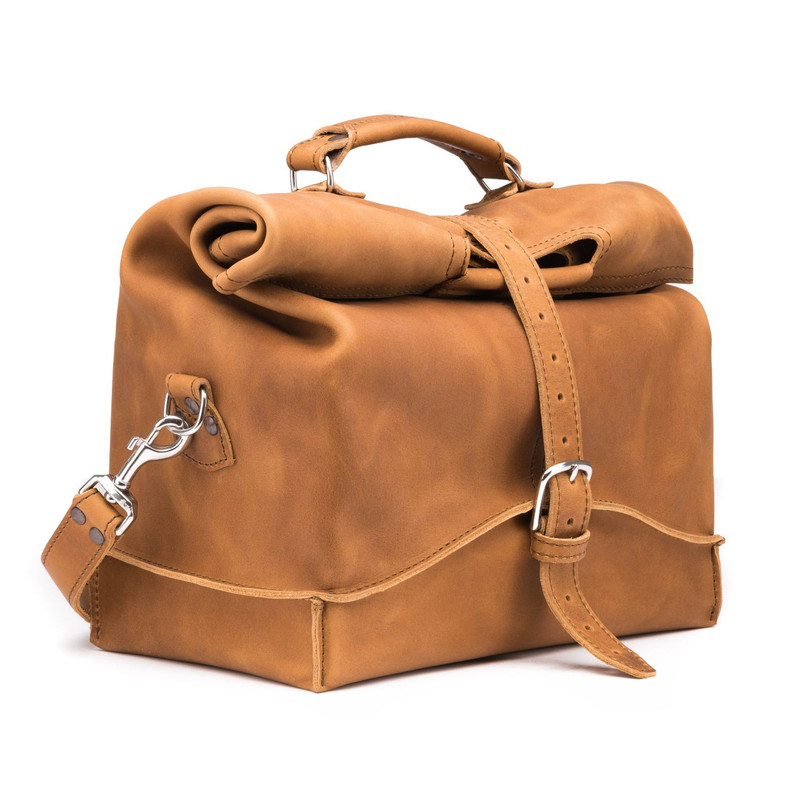 One Piece Leather Duffle Bag