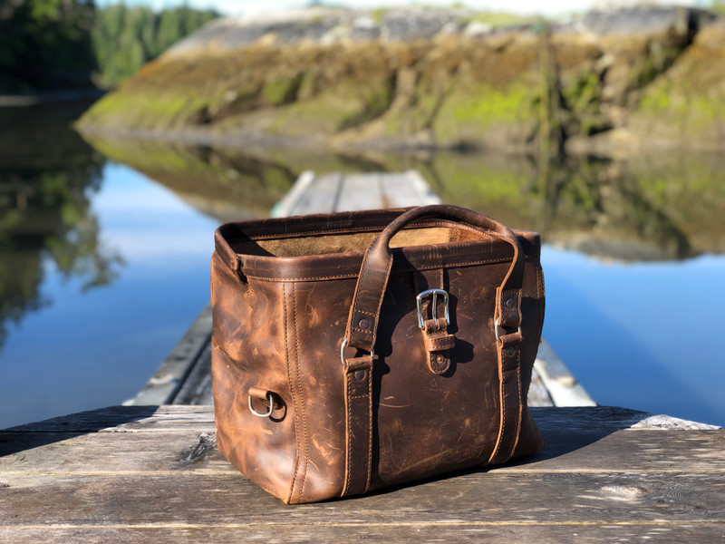 Big Mouth Leather Duffle Bag