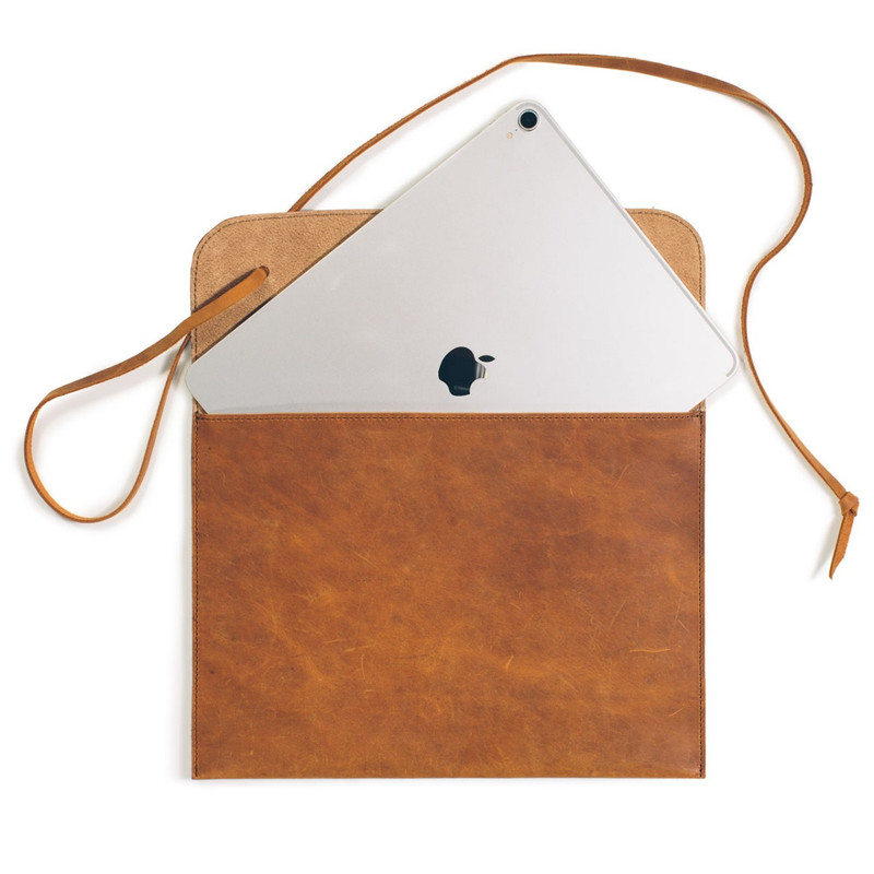 Soft Leather Laptop and iPad Case