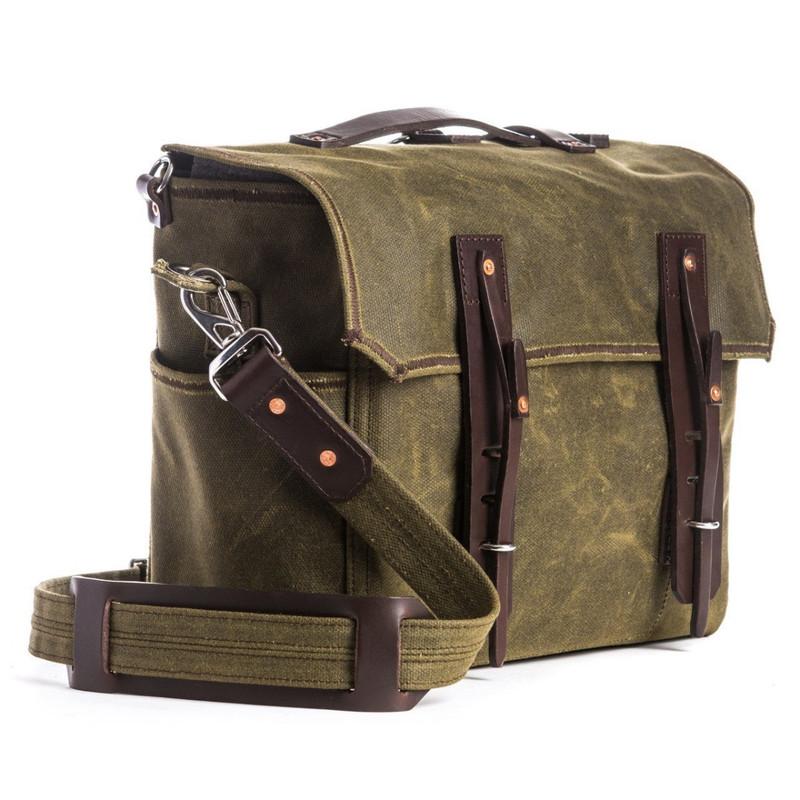 Simple Weatherproof Canvas Messenger Bag