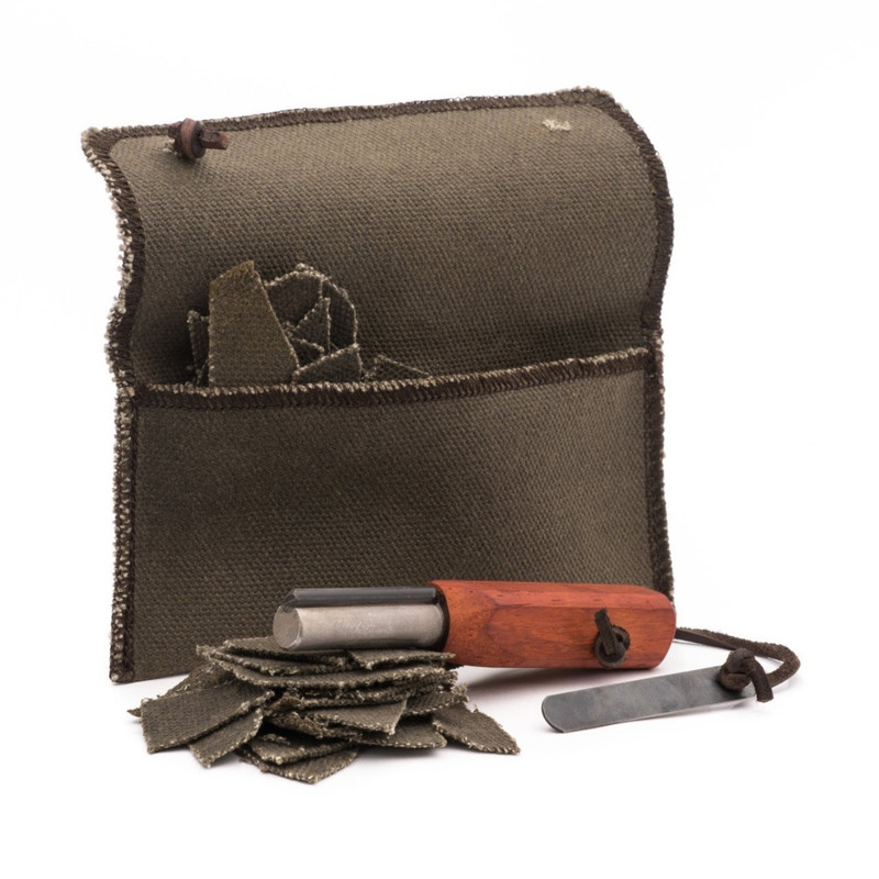 Waxed Canvas Fire Starter Kit