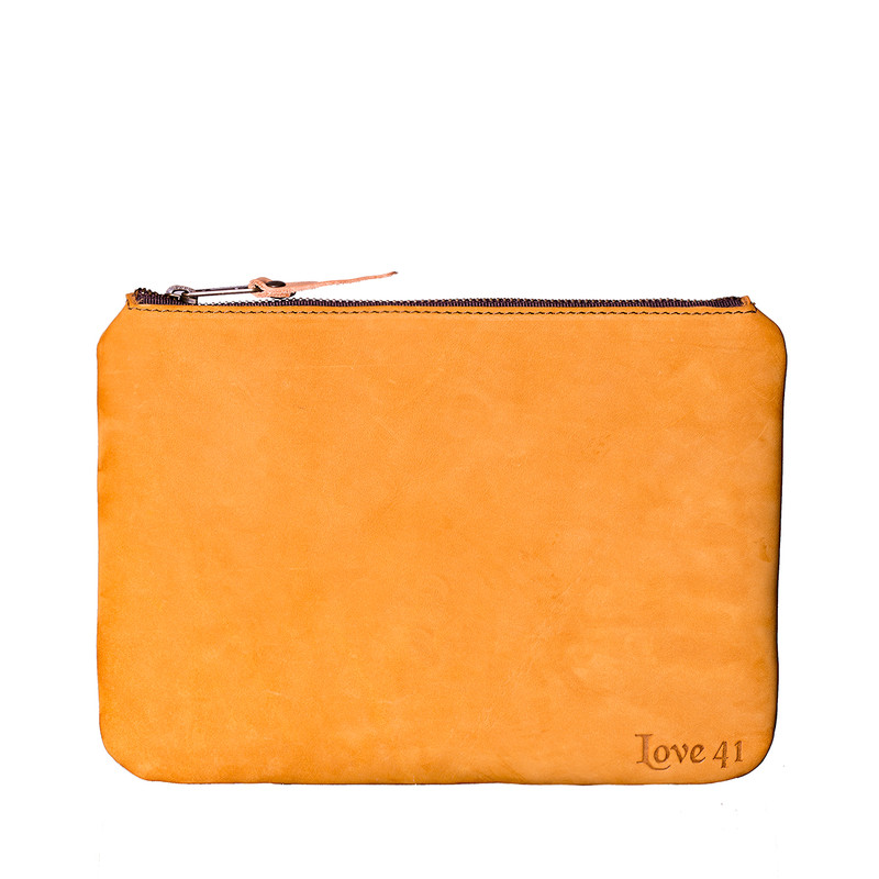 Leather Pouches - Set of Three