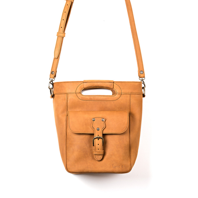 Medium Bucket Leather Tote
