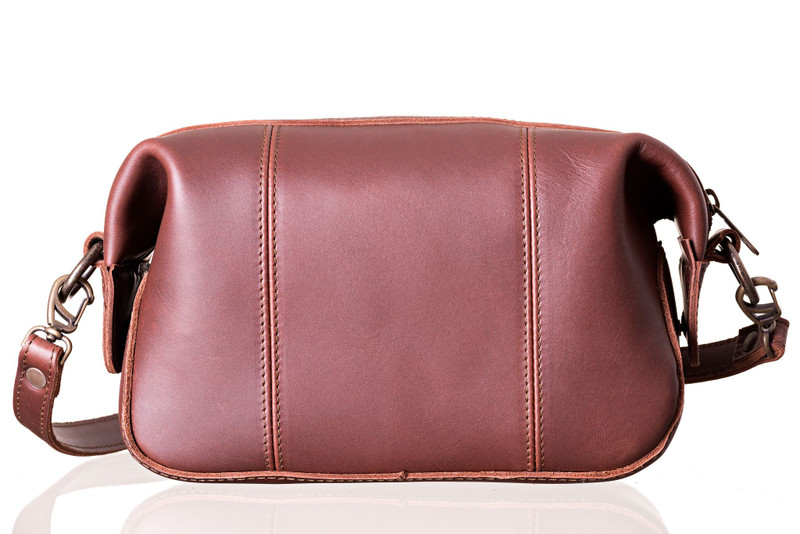 Crossbody Leather Toiletry Bag