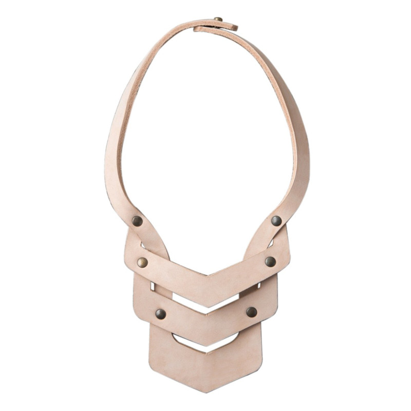 Essential Oils Leather Statement Necklace