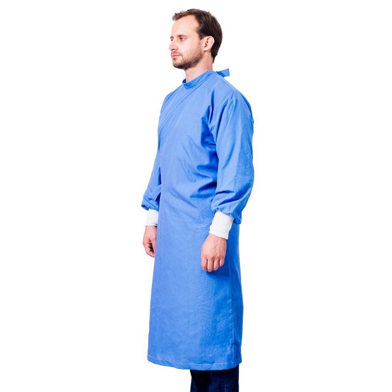 2-Strap Isolation Gowns with Durable Water Repellent with Poly Cuffs - Pack of 5