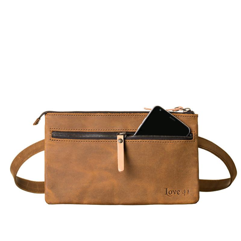 Suzette's Steals Leather Belt Bag-Tobacco