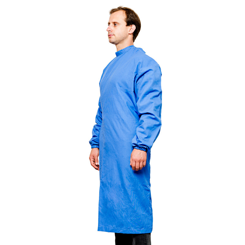 2-Strap Isolation Gowns with Durable Water Repellent with Elastic Band Cuffs - Pack of 5