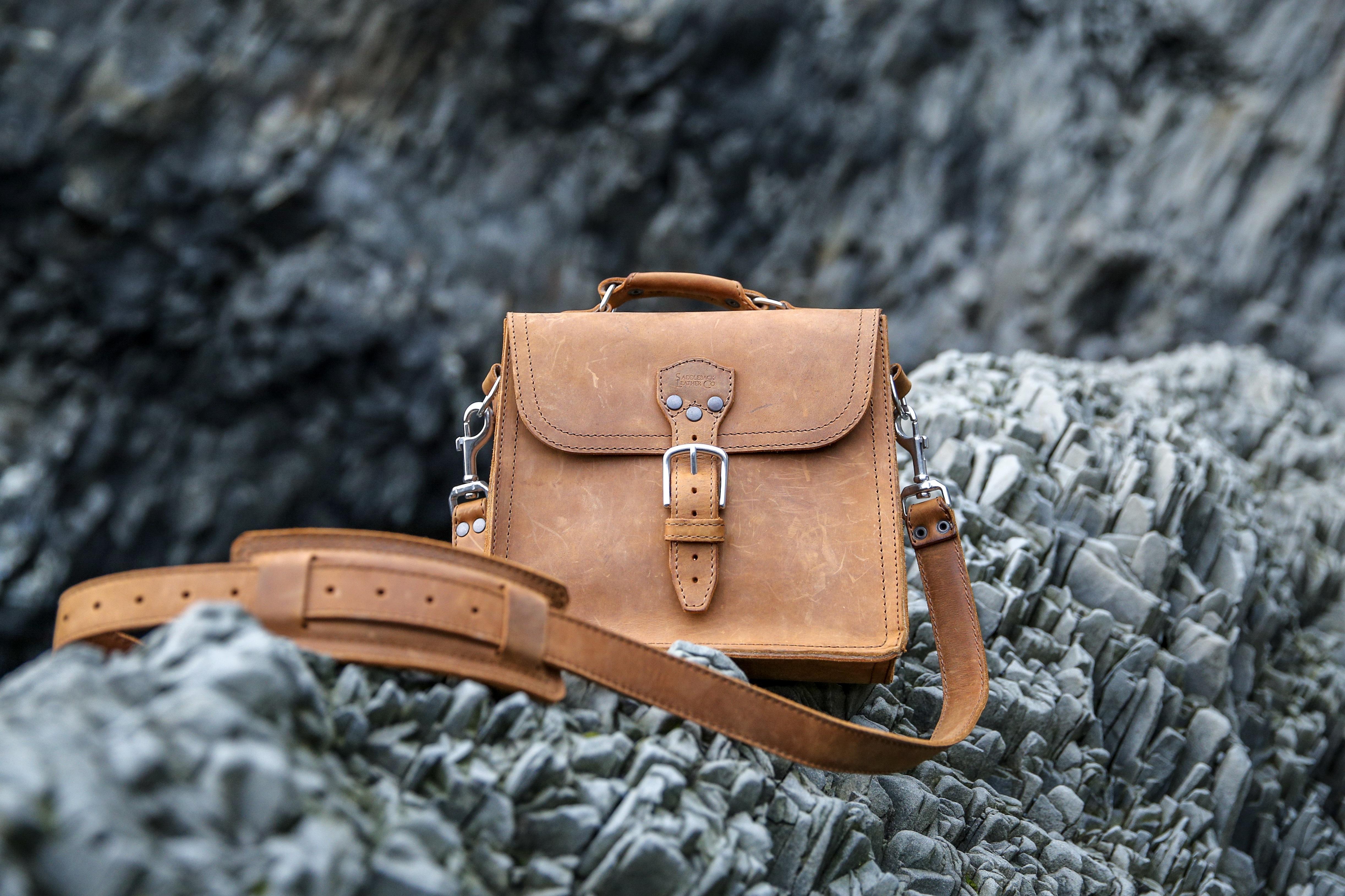 leather satchel man bag Indiana Jones
