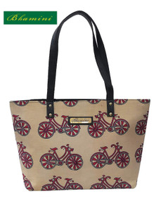 Bhamini Cycle Block Print Cotton Tote Bag