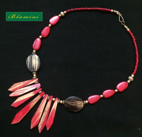 Red Indo Western Fusion Neckace
