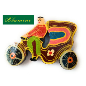 Wooden Indian Cycle Rickshaw Magnet
