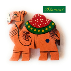 Wooden Indian Camel Magnet