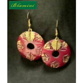 Wooden Earrings Design 8