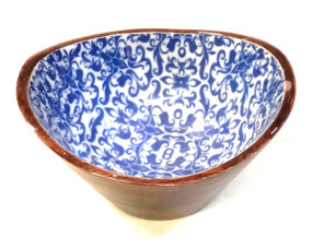 Wooden Laminated Printed Serving Bowl D07