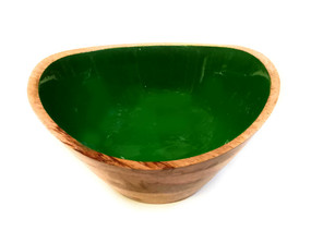 Wooden Laminated Printed Serving Bowl D08