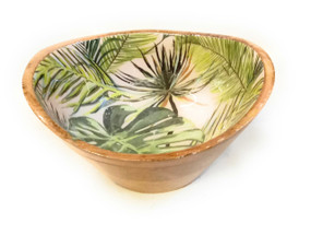 Wooden Laminated Printed Serving Bowl D10