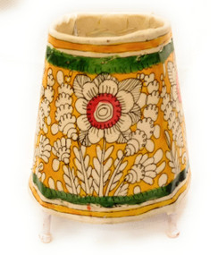 Bhamini 5 inch Leather Lamp Round Shape D65