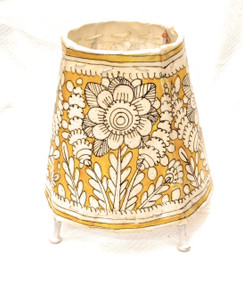 Bhamini 5 inch Leather Lamp Round Shape D66