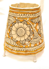 Bhamini 5 inch Leather Lamp Round Shape D67