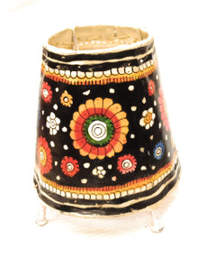 Bhamini 5 inch Leather Lamp Round Shape D69