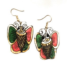 Bhamini Leather Butterfly Earrings