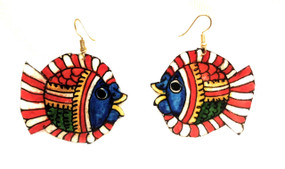 Bhamini Leather Fish Earrings