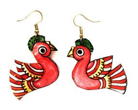 Bhamini Leather Bird Earrings