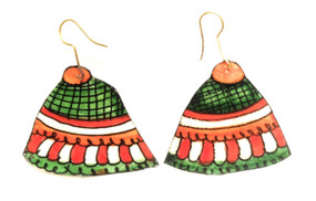Bhamini Leather Jhumki Earrings
