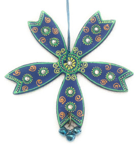 Bhamini Cone Art Blue and Green Star Hanging
