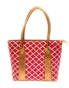 Bhamini Coppergold and Pink Dressy Bag