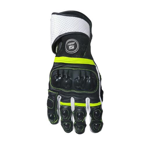 Leather Punch Gloves Green / Кожени Мотоциклетни Ръкавици