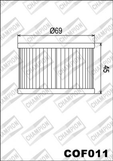 CHAMPION FILTER COF011 ( X304)