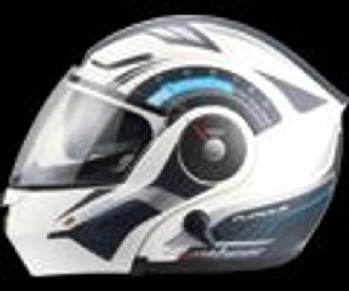 ZEUS HELMET MODULAR ZS3000A GG1 WHITE/BLUE