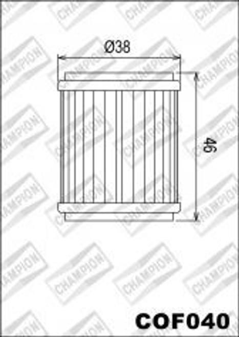 CHAMPION FILTER COF040 (X354)