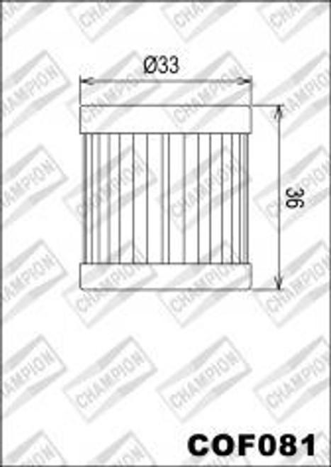 CHAMPION FILTER COF081 (X330)
