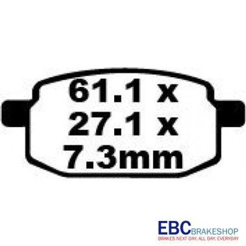 EBC BRAKE PADS SFA169