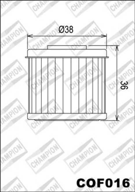 CHAMPION FILTER COF016 (X357-X349 )