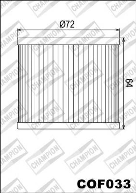 CHAMPION FILTER COF033 ( X307)