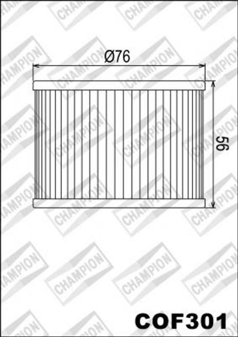 CHAMPION FILTER COF301 (X303-X315)