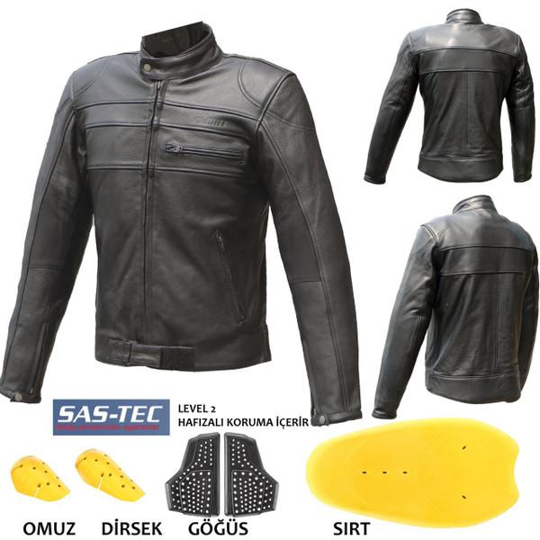 Shield Leather Jacket /  Мотоциклетно Кожено Яке